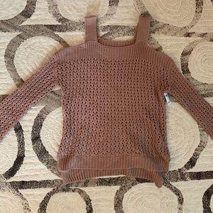 Charlotte Russe Cold Shoulder Sweater